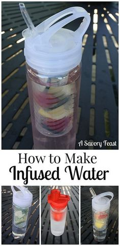 How to Make Fruit Infused Water! This is a great way to drink more water, and get more fruits and veggies each day.