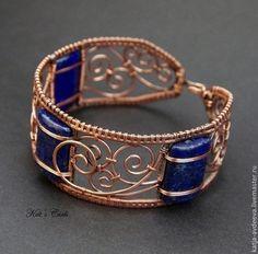 Wire Jewelry Patterns, Wire Jewelry Designs, Bracelet Patterns, Jewelry Crafts, Jewelry Art, Beaded Jewelry, Jewellery, Copper Wire Jewelry, Wire Jewelry Making