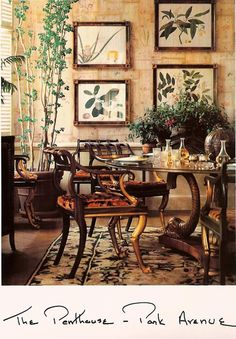 Lee's 5th Avenue apt. She loved that fabric. Matched tiger couch. Even her…