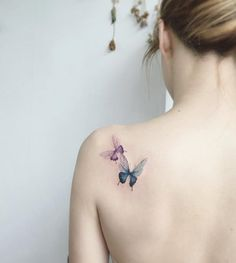 Beautiful butterfly shoulder tattoo- - 100+ Amazing Butterfly Tattoo Designs <3 <3