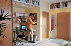 Εντυπωσιακά και μοντέρνα γραφεία στο σπίτι | Otherside.gr (14) Maximize Small Space, Small Closet Space, Small Space Office, Small Space Solutions, Small Closets, Small Spaces, Home Office Closet, Perth, Home Office Design