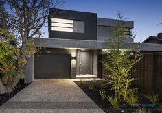 Dual Occupancy Home Builders Melbourne Townhouse Exterior, Modern Townhouse, Duplex House Design, Modern House Design, Facade Design, Exterior Design, Exterior Paint, Home Builders Melbourne, Double House