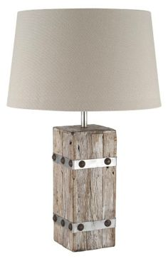 Reclaimed wood lamp.