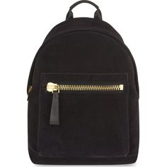 TOM FORD Buckley suede backpack ($2,430) ❤ liked on Polyvore featuring bags, backpacks, black, oversized backpack, knapsack bags, tom ford, zip bags and tom ford backpack