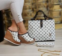 "Hot ""Tell Me Anything"" Louie Luxury Wedge Sandals Messenger Handbag Wallet Set Gucci Sneakers Outfit, Lv Sneakers, Versace Boots, Gucci Boots, Cute Shoes, Me Too Shoes, Lv Boots, Gucci Handbags Outlet, Louis Vuitton Shoes"