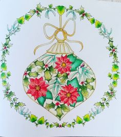 #johannabasford #johannaschristmas #color #coloringbookforadults I like this one very much❤