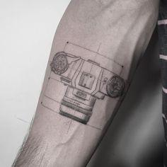 camera blueprint tattoo