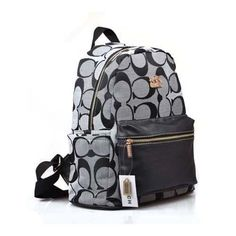 Cheap And Fashion Coach Logo Monogram Medium Grey Backpacks DPF Are Here!
