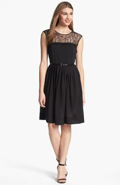 a1f6d613372 Calvin Klein Lace Fit   Flare Dress