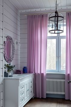 Designer Elena Potapova carried the project of this house in Kaluga region, Russia, from the foundation to the small decor. The wooden cottage of 410 sqm ✌Pufikhomes - source of home inspiration Wooden Cottage, Big Family, House On Wheels, Beautiful Interiors, Sweet Home, Room Decor, Curtains, Inspiration, Design
