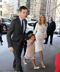 Jared Kushner, seen here on Sunday with his wife Ivanka leaving his new son Theodore's bris, is a top informal adviser to his father-in-law Donald Trump
