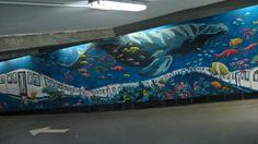 Street Art in Madrid (Parking del Hotel Mercure Santo Domingo. C/ San Bernardo, 1)