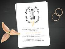 Vintage Save the Date Karte | Hochzeit | Rustikal Save The Date, Place Cards, Place Card Holders, Bride, Etsy, Inspiration, Wedding, Vintage, Design