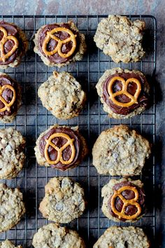 Beer and Pretzel Cookies - beer in a cookie?  YOU better believe I will be trying these bad boys!