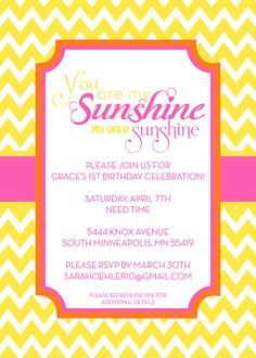 you are my sunshine party - just add kids and cupcakes