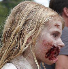 Addy Miller first walker in first season episode 1 of the Walking Dead