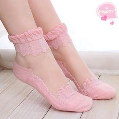 Women's socks it is like a bud silk lace leisure by WoolSister