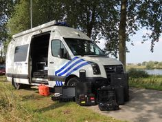 "Belgian Local Police Meetjesland Centrum.  Our command & support vehicle with the pelicases containing an Automatic Number Plate Recognition System and a Rapid Deployment Integrated Surveillance System at ""De Boerekreek"" in Sint-Laureins.  Picture by Johan Verschaeve - Belgium"