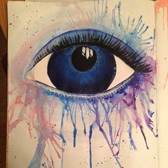 Eye-watercolour