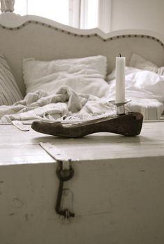 Vintage shoe last candlestick Vintage Love, Vintage Shoes, Shoe Last, Candlesticks, Repurposed, Shabby Chic, Dream Studio, Living Room, Furniture
