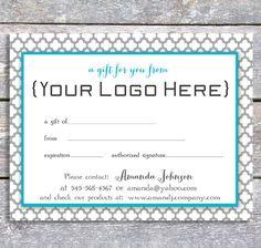 custom gift certificate templates