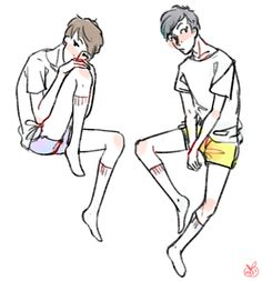 Tumblr Phan Art | pretty boys in shorts