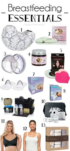 Breastfeeding Essentials - Must Haves for new moms who are breastfeeding.
