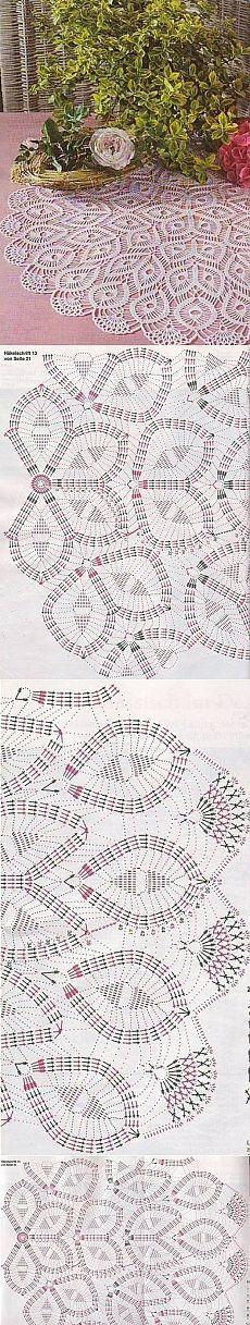 This Pin was discovered by Bea Free Crochet Doily Patterns, Granny Square Crochet Pattern, Crochet Mandala, Crochet Diagram, Tatting Patterns, Crochet Round, Crochet Chart, Crochet Home, Crochet Motif