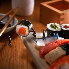 Sushi rolls. Akiko Ida & Pierre Javelle » www.minimiam.com
