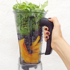 //AIP Smoothie from Low Histamine Chef// * blueberries * arugula * ginger * turmeric * @bionaorganic coconut bliss * ice and cold water