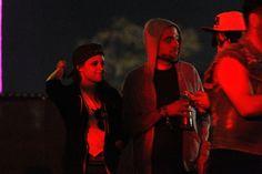 Kristen Stewart and Robert Pattinson with friends at the 2013 Coachella Music Festival