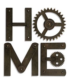 Love this 'Home' Wall Gear Letter Décor on #zulily! #zulilyfinds
