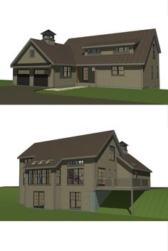 Small house plan at 1830 sq ft has all the WOW factor of a larger home. 1st floor master bed/bath. lofted ceilings and open concept. Visit for more, including downloadable floor plans. #smallhouseplans