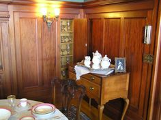 Pittock Mansion, Pantry in Dining Room. 1914. Concealed to look like wainscoting. So Jealous.