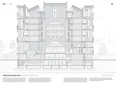 """Studying the """"Manual of Section"""": Architecture's Most Intriguing Drawing, Phillips Exeter Academy Library by Louis I. Kahn (1972). Published in Manual of Section by Paul Lewis, Marc Tsurumaki, and David J. Lewis published by Princeton Architectural Press (2016). Image © LTL Architects"""