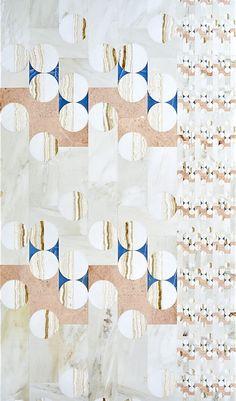 Mosaïque en marbre et onyx Balloon, design Patricia Urquiola (Budri) 3d Pattern, Surface Pattern, Surface Design, Pattern Design, Patricia Urquiola, Textiles, Textile Patterns, Print Patterns, Terrazzo