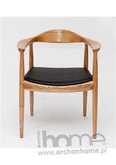 Krzesło President naturalne drewno - inspirowane Kennedy