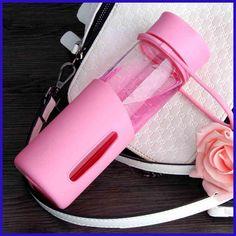 Water Glass Trvel Outdoor Bottle Botellas De Vidrio Para Agua Mason Jar Transparent Filter Hand Water Bottle With You QQB105