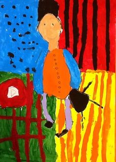 "Matthew10495's art on Artsonia From exhibit ""Henri Matisse, The Purple Robe paintings"" by Matthew10495 (Art ID #29094900)  from Mount Holly Elementary— grade 3  United States"