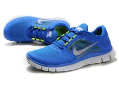 374meoIt Nike Free 3 Blue Silver Women's Shoes