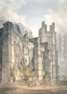 St Anselms Chapel, Canterbury Cathedral oil painting reproduction by Joseph Mallord William Turner - NiceArtGallery.com