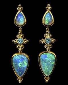Crevoshay Opal Earrings