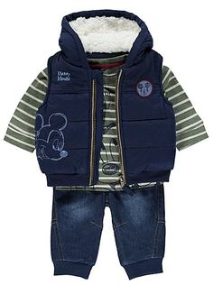 Disney Mickey Mouse 3 Piece Gilet Set , read reviews and buy online at George at…