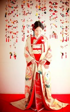 打掛(婚礼衣装) Uchikake (Japanese wedding dress)