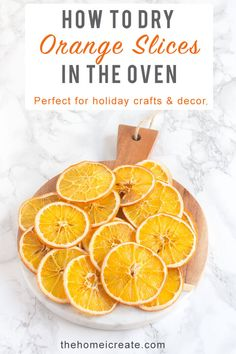How To Dry Orange Slices In The Oven - The Home I Create Step by step instructions on how to easily dry orange slices in the oven for Christmas crafts, potpourri, dessert garnish and more. Natural Christmas, Homemade Christmas, Diy Christmas Gifts, Christmas Projects, Simple Christmas, Christmas Tree Decorations, Holiday Crafts, Christmas Time, Holiday Fun
