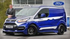 Awesome M-Sport Transit Connect turns heads at Jennings Ford - Jennings Motor Group Ford Transit Connect Camper, Kangoo Camper, Ford Fiesta St, Van Wrap, Cool Vans, Amazing Cars, Awesome, Vw T5, Custom Vans
