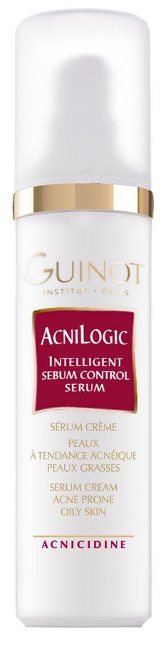 ACNILOGIC (50ml)  Verhindert übermässige Talgabsonderung. Der Acnicidne Komplex wirkt auf die Überfunktion der Talgdrüsen und klärt die Unreinheiten, Entzündungen und Hautreizungen verantwortliche Bakterinflora bei zu Akne neigender Haut. http://www.best-kosmetik.de/marken/guinot/unreine-mischhaut/acnilogic.html