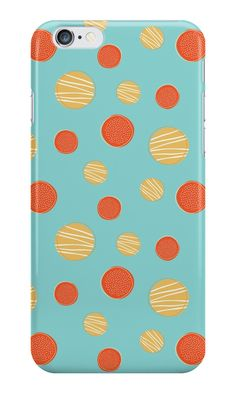 'Polka Cookies w. ice sugar' iPhone Case by ellenyang