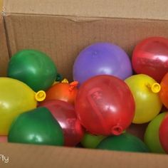 Each balloon has money inside - a clever way to give money as a gift!