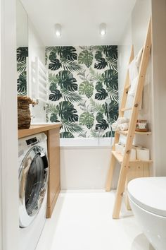 The Best 2019 Interior Design Trends - Interior Design Ideas Washing Machine Cover, Norwegian Style, Bathroom Kids, Ikea Hack, Home Staging, My Dream Home, Ladder Decor, Sweet Home, House Design